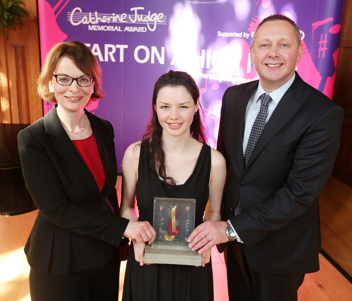 Mairéad Hickey receiving the Catherine Judge Memorial Award 2015