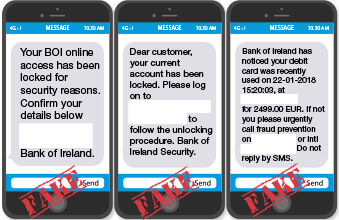 Suspicious Texts (Smishing) - Bank of Ireland Group Website